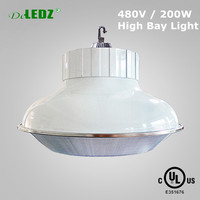 Industrial dimmable led high bay light 200W mutil-voltage high bay 347v 480v mutil-voltage high bay fixture