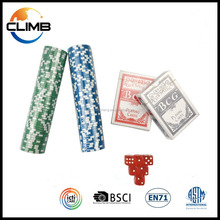 2016 New Custom Design Cheap Casino Clay Professional OEM Supply Used 11.5g Dice Poker Chips For Sale
