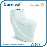 Ceramic new model p trap toilet W107