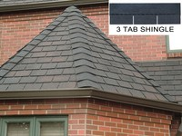 Colorful 3-Tab roofing material asphalt shingles,factory direct roofing shingles for house design