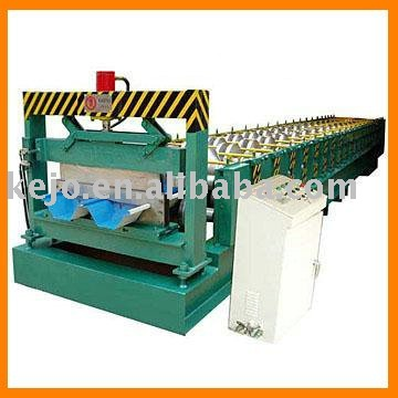 shanghai kejo/Colored Glaze Steel Tile Type corrugated roll forming machine