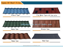 2017 cheap stone coated metal roof tile in Nigeria/color sand caoted steel roofing/factory directly roofing materials