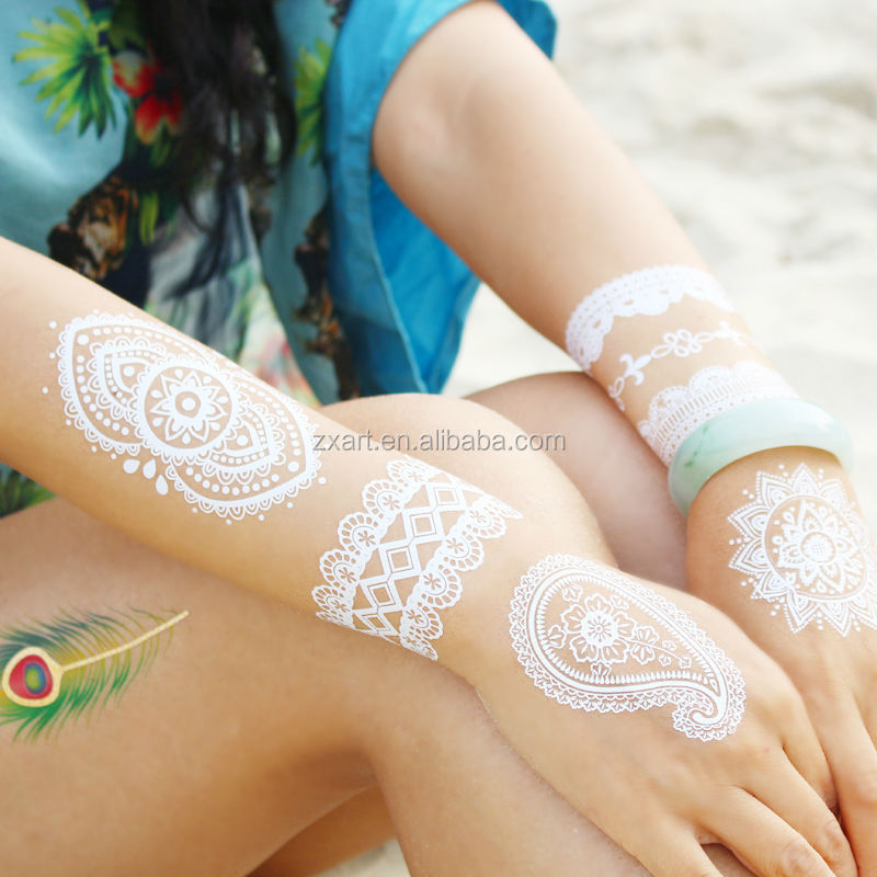 Nipple cones body jewelry chain temporary metallic tattoo sticker