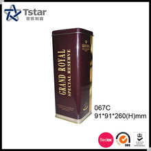 Grand royal metal box for wine packing