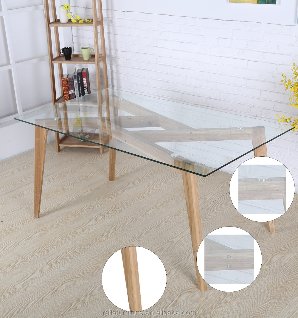 wood furniture dining table solid wood dining table with glass top