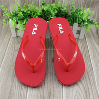 Simple design famous brand ladies pvc slippers