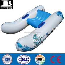 heavy duty thick vinyl catamaran design inflatable ski and wakeboard trainer durable plastic giant blow up water float
