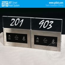 GTD Customized 150*160MM size 15mm thickness Stainless panel Crystal DND room number Plate