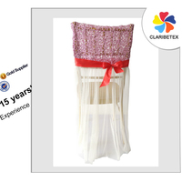 Hot sale Embroidered/Lace Wedding Banquet Hotel Chair Cover