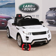 Lisenced Range ROVER Rastar ride on toys with remote control baby electric car,kids battery powered Mp3 ride on car