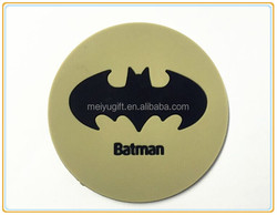 personalized customize batman design rubber table cup mat ,cool design bar mat