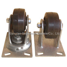 100mm Swivel and Rigid Rubber cast iron center Wheel Caster Wheel (HMR42S /HMR42R)