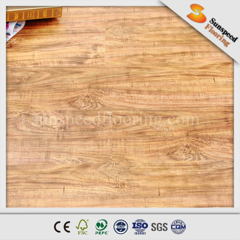 Water rated Quick Lock Crystal Surface Laminate Flooring