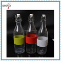 New design clear decorative empty clear glass milk bottles