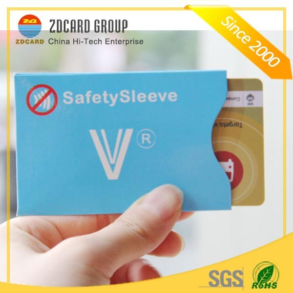 Real Test RFID Credit card protector sleeve