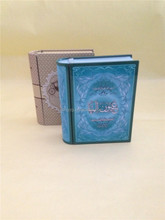 special gift book shape tin box
