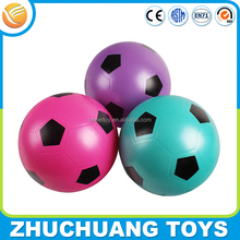 custom color print pvc glitter football soccer ball for children