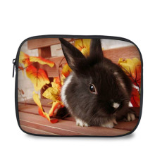 New arrival fancy design lovely rabbit print cartoon case neoprene shockproof tablet notebook sleeve for 10.1 inch
