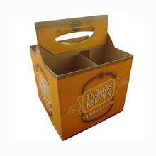 Cardboard 4 pack beer bottle box carriers
