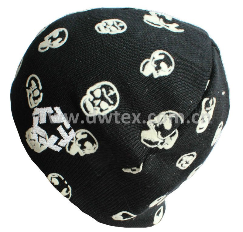100 Acrylic Knitted Hat With Skull Pattern Wholesale, Knit Hat ...