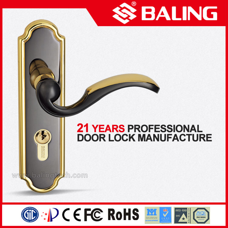 BALING zinc alloy door handle mortise lock for room and entrance