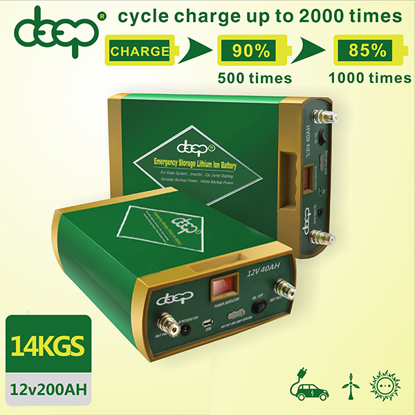 Emergency non lead acid battery deep cycle customized 12v 180ah 500ah lithium backup battery for solar system outdoor