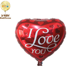 Hot selling 18inch heart shape wedding display balloon with helium