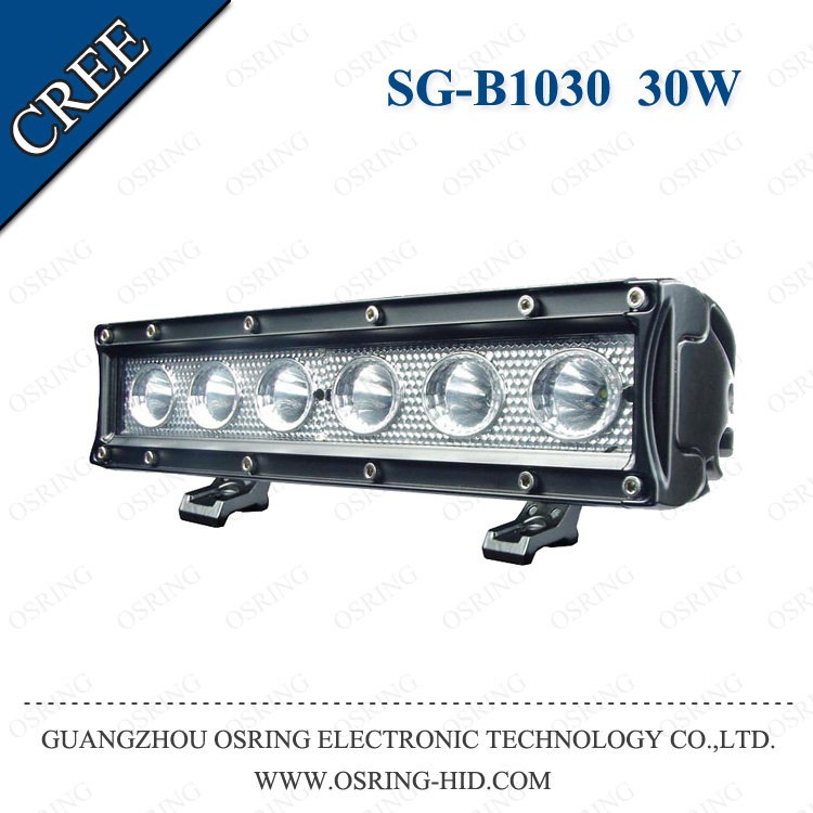 OSRING super spot wholesale auto truck single row 11inch car light led bar 30w