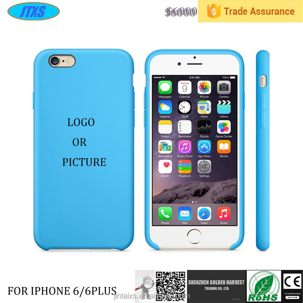 Wholesale Official Silicon Phone Cases ,mobile phone cover For Iphone 6/ 6+