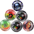 OEM Custom Logo Printed Smoking Herb Weed Cigarette Glass Ashtray