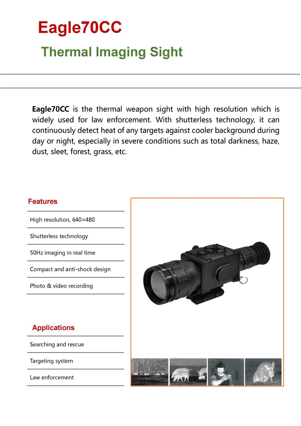 Thermal weapon sights Eagle70CC High Quality Thermal Night Vision