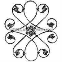 wrought iron rosette,wrought iron panel used on railing,staircase,gate and fence