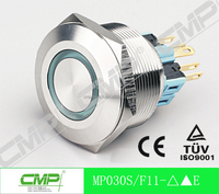 cmp 30mm high quality push button switch for kitchen hood momentary push button switch