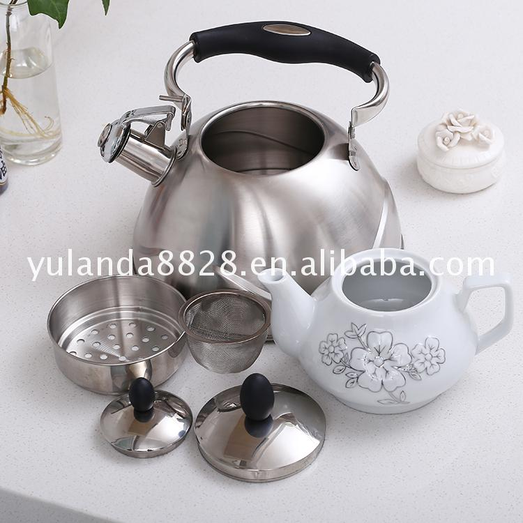 Competitive price Stainless steel 3.7L whistling stainless kettles