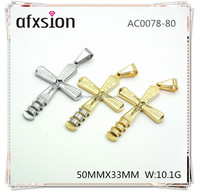 AFXSION Western Jewelry Religious Jewelry Cross Pendant gold plated stainless steel