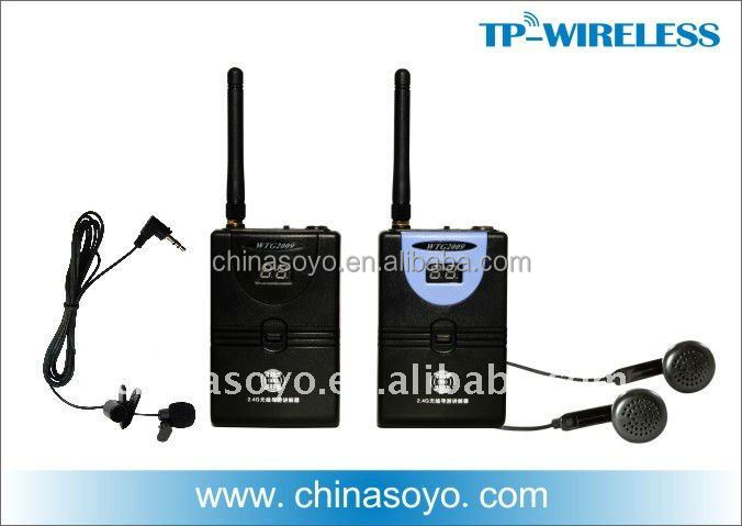 Digial Wireless tour guide interpretation system,portable transmitter and receiver