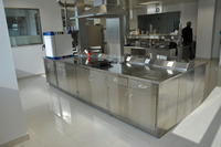 lab furniture adjustable stainless steel lab bench and adjustable reagent shelf