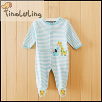 Wholesale baby boys griaffe cheap footed pajamas baby fleece pajamas sleeper