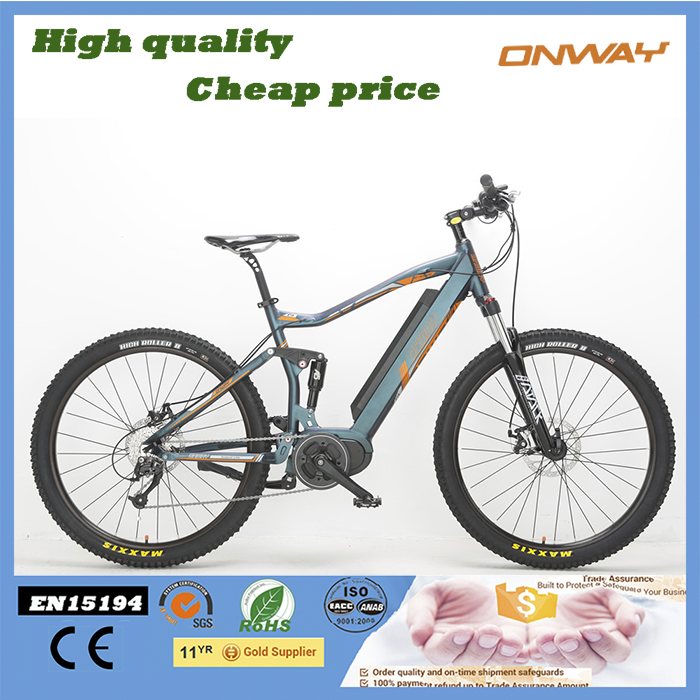 36V 350W Powerful Bafang Mid Drive Motor Mountain Electric Bicycle