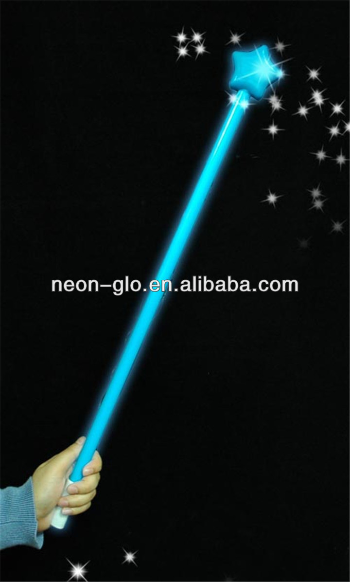 Light Up Magical Scepters With Top Star For Party For Kids