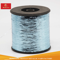 Blue color M type metallic yarn flat thread for embroidery or knitting