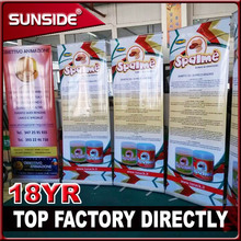 cheap outdoor poster stand christmas promotion roll up banner stands and retractable displays CH 12.10