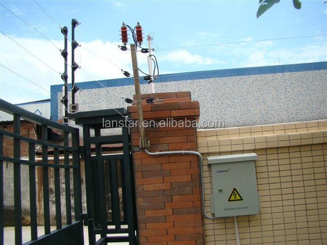 Aluminium alloy terminal post for electric fence, power coated aluminum fence post for top wall fencing