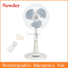 "14"" rechargeable battery operated floor fan MODEL 295"