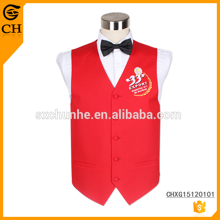 Embroidery Logo Customized Design young mens fashion vest