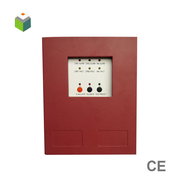 2 zone conventional fire alarm control panel support fire alarm bell