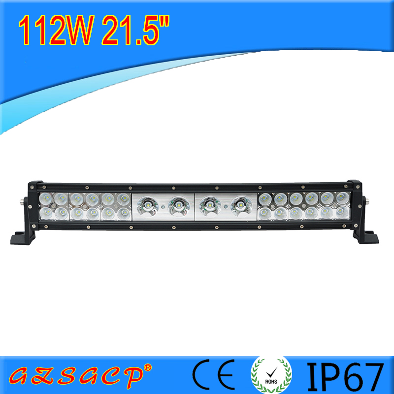 good quality mixed curved 112w rally led driving light bar with 1 year warranry