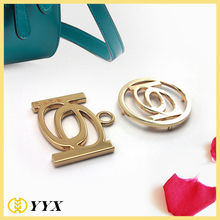 5cm round big ring hang labels metallic accesories for handbags