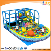 Small trampoline single plastic slide modular adult playground