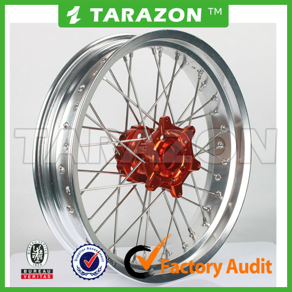 17 inch lightweight Motorcycle front CNC aluminum spoke wheels for KTM